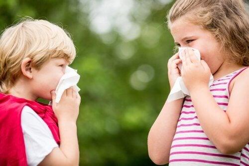 Kinderen met een allergie