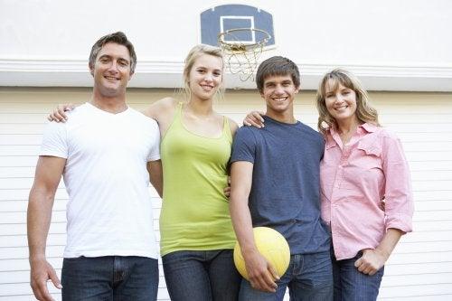 Sporten met grote kinderen