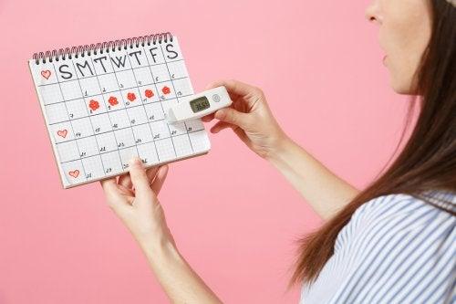 Menstruatiecyclus op een kalender