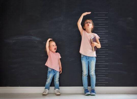 De volgorde van geboorte bij 2 zusjes