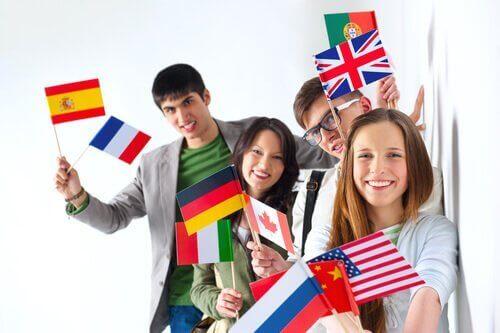 Vlaggetjes van verschillende landen