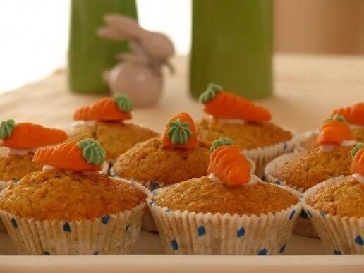 Muffins van worteltjes voor kinderen