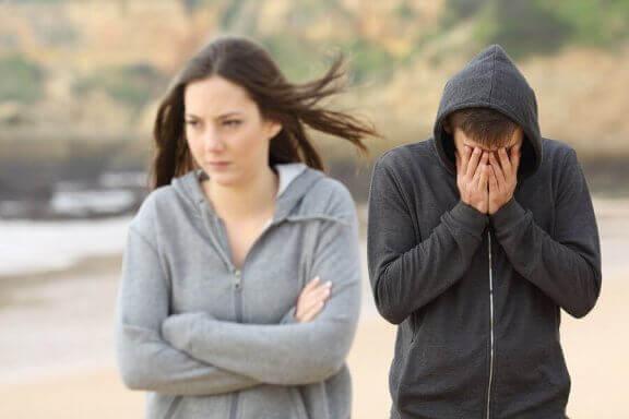 Tiener in een relatiebreuk