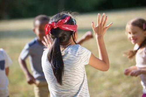 Spelletjes met een blinddoek