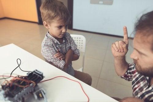 Vader zegt nee tegen zoontje