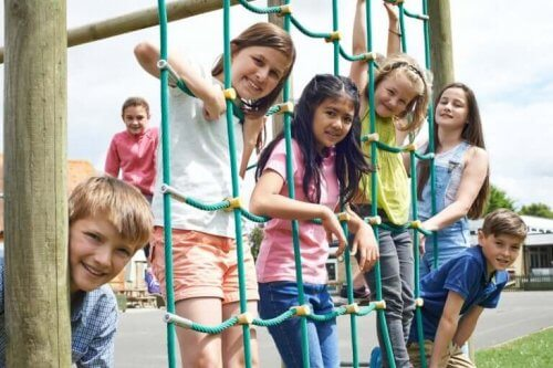 Kinderen tijdens de pauze