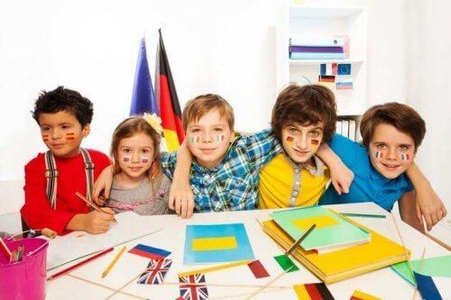Kinderen leren een andere taal