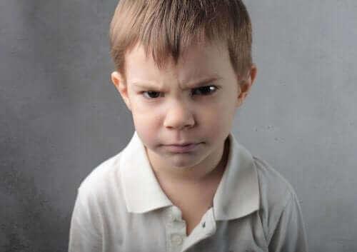 Kinderen die om alles boos worden