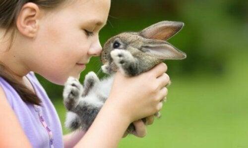 Kind met konijntje