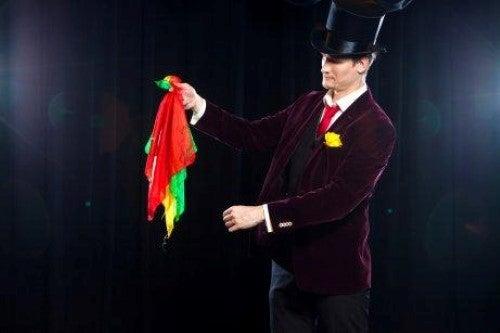 Magische truc met zakdoeken