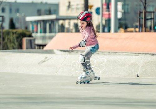 Meisje op skates