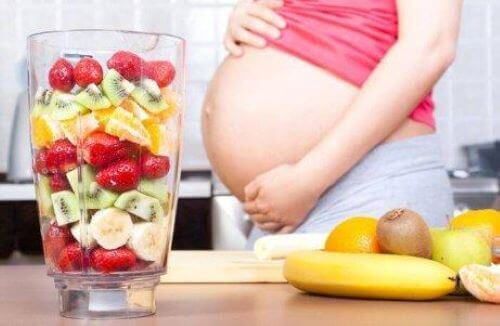 Fruit voor een zwangere vrouw