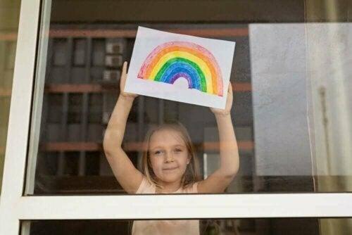 Het aanpassingsvermogen van kinderen tijdens quarantaine