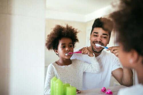 Samen tandenpoetsen
