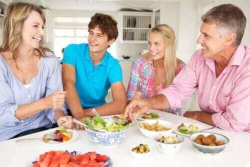 Puber in quarantaine met gezin