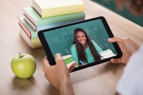 Leerling volgt virtueel onderwijs