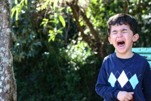 Tekenen dat je kind op het punt staat een driftbui te krijgen