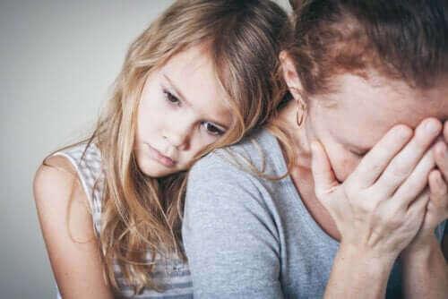 Huilende moeder