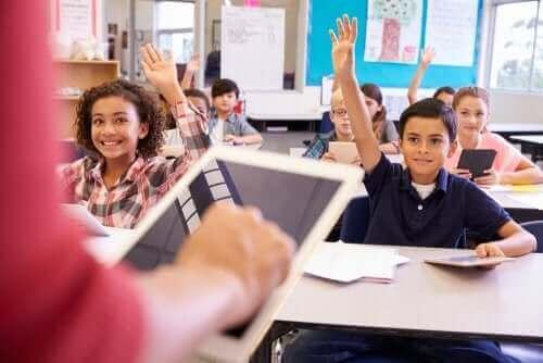 Werkende kinderen in de klas