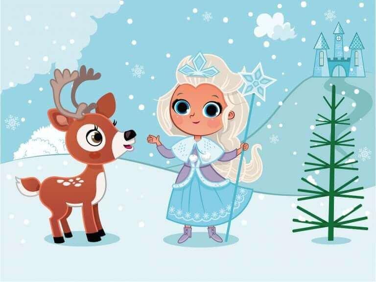 Tekening vergelijkbaar met Elsa