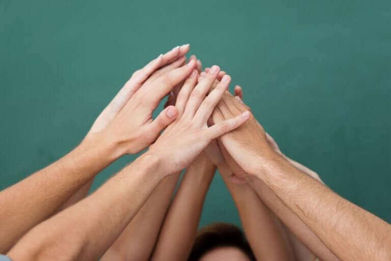 De handen van pubers