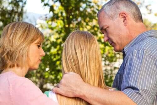 Ouders praten met tiener