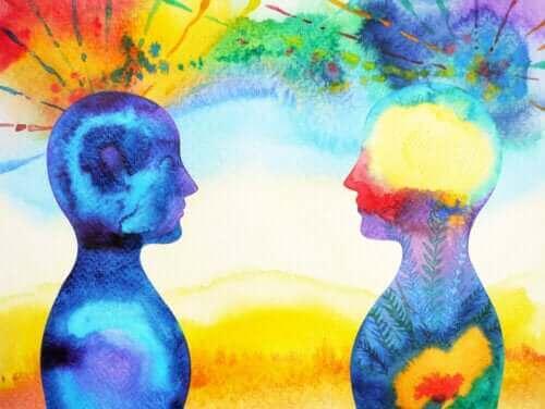 Aquarel schilderij van emoties