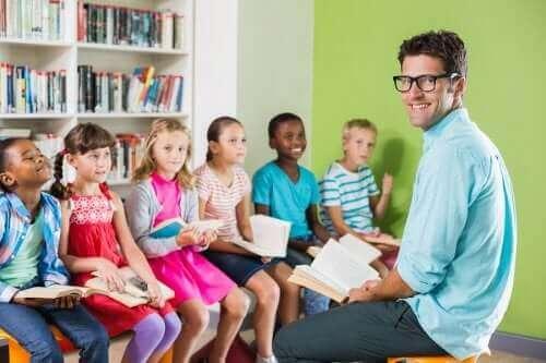 Leraar en leerlingen