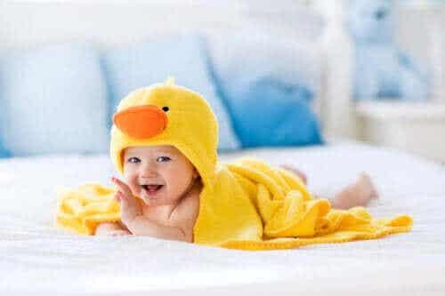 Badaccessoires voor baby's voor tijdens het badderen