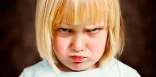 Een heel boos meisje