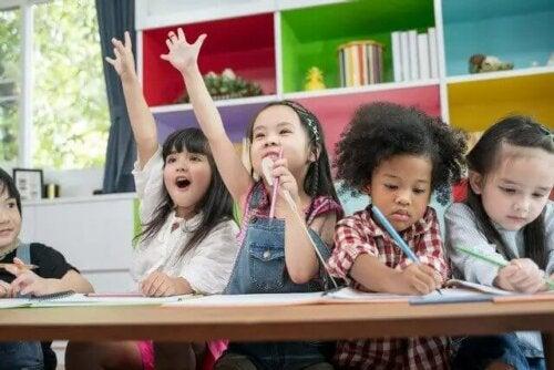 Leerlingen op school