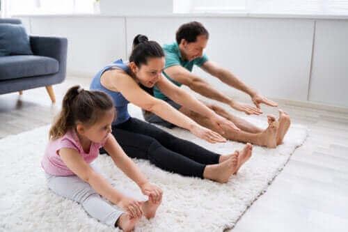 Het aanmoedigen van kinderen om actief te zijn