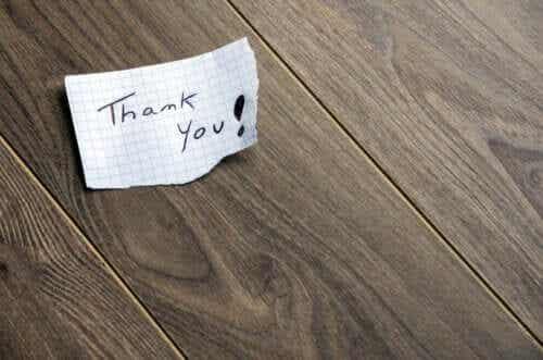 Laat een briefje achter om je dankbaarheid te tonen