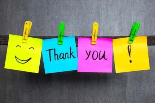 Bedankbriefjes leren kinderen goede manieren