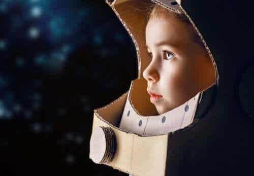 Vaak zijn kinderen gefascineerd door de ruimte