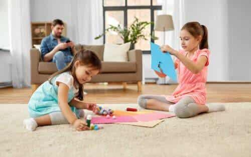 Kinderen vinden knutselen leuk