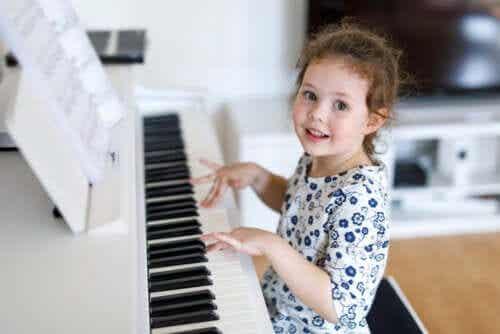 Sommige kinderen hebben muzikale talenten