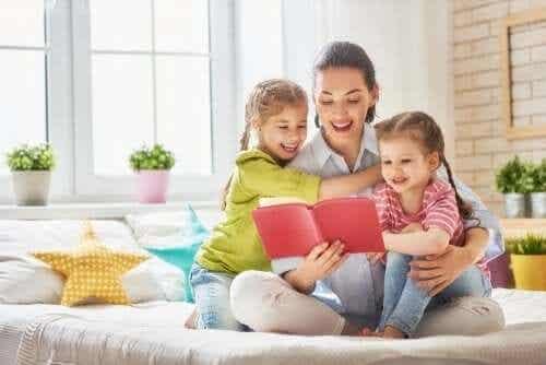 Aan je kinderen voorlezen is leuk