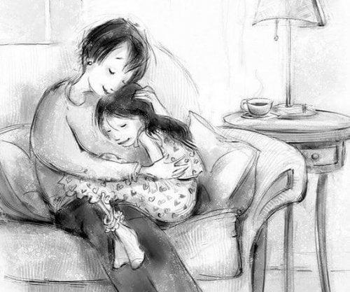 Mama, praat met liefde tegen me
